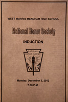 National Honor Society Induction 12-3-12