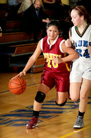 Freshman Girl's Basketball Action