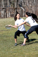 Women's Ultimate Frisbee Action  3-31-14