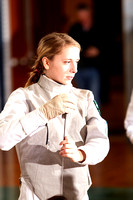 Fencing Girls Team & Action 1-18-12