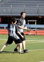 Men's Ultimate Frisbee Action  3-31-14