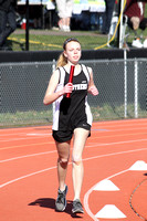 Girls Track Action 4-12-14