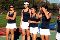 Tennis Girls Var Team & Action 10-17-11