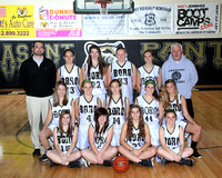 Basketball Girls JV Team & Action Winter 2011-2012