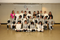 Fencing Girls Winter 2011-2012