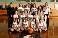 Basketball Girls' Varsity Team & Action 12-13-12