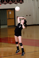 Volleyball Girls Var Team & Action 9-22-11