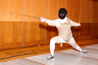 Fencing Girls Team & Action 3-22-12