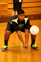 Volleyball Boys Team & Action 3-20-12