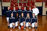 Basketball Girls Varsity Team & Action Winter 2011-2012