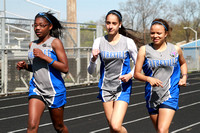 Track Girls Team & Action 4-3-12